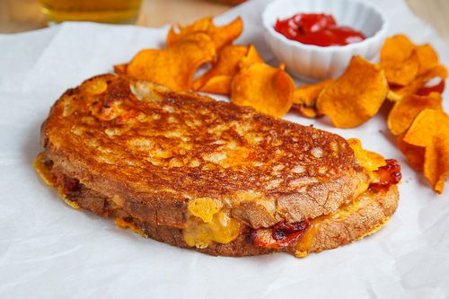 Closet Cooking: Kimchi and Bacon Grilled Cheese Sandwich