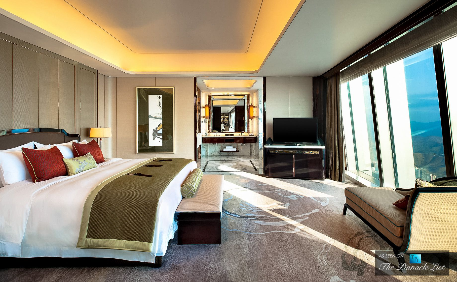 Regis luxury hotel shenzhen china presidential suite for Nice hotel design