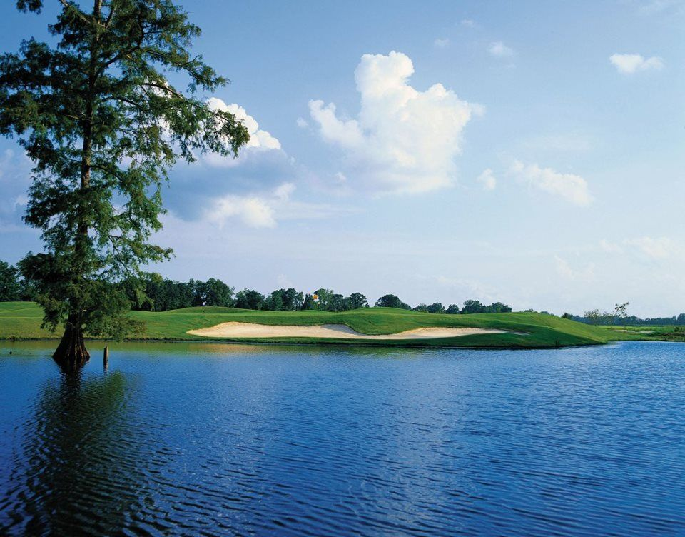 Stunning view of the golf course at The Island in Plaquemine, LA.