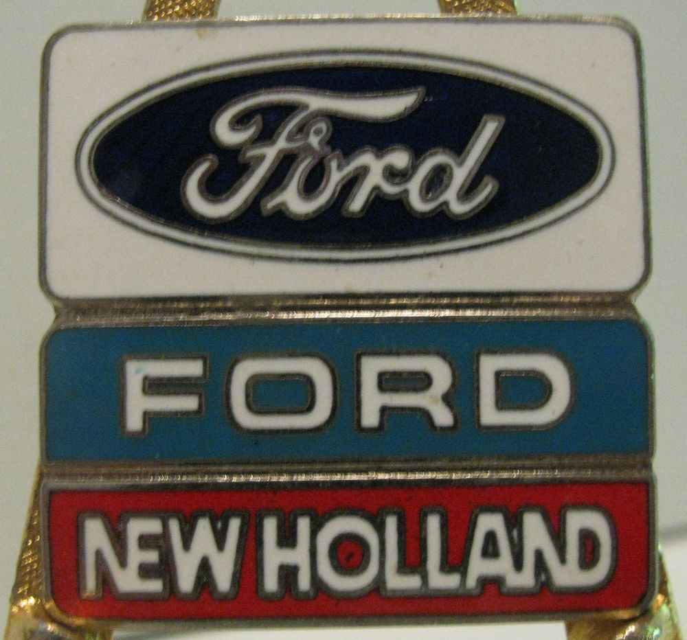 Ford New Holland Hat Lapel Pin Old Farm Agriculture Badge Nh Construction Ford News New Holland Ford