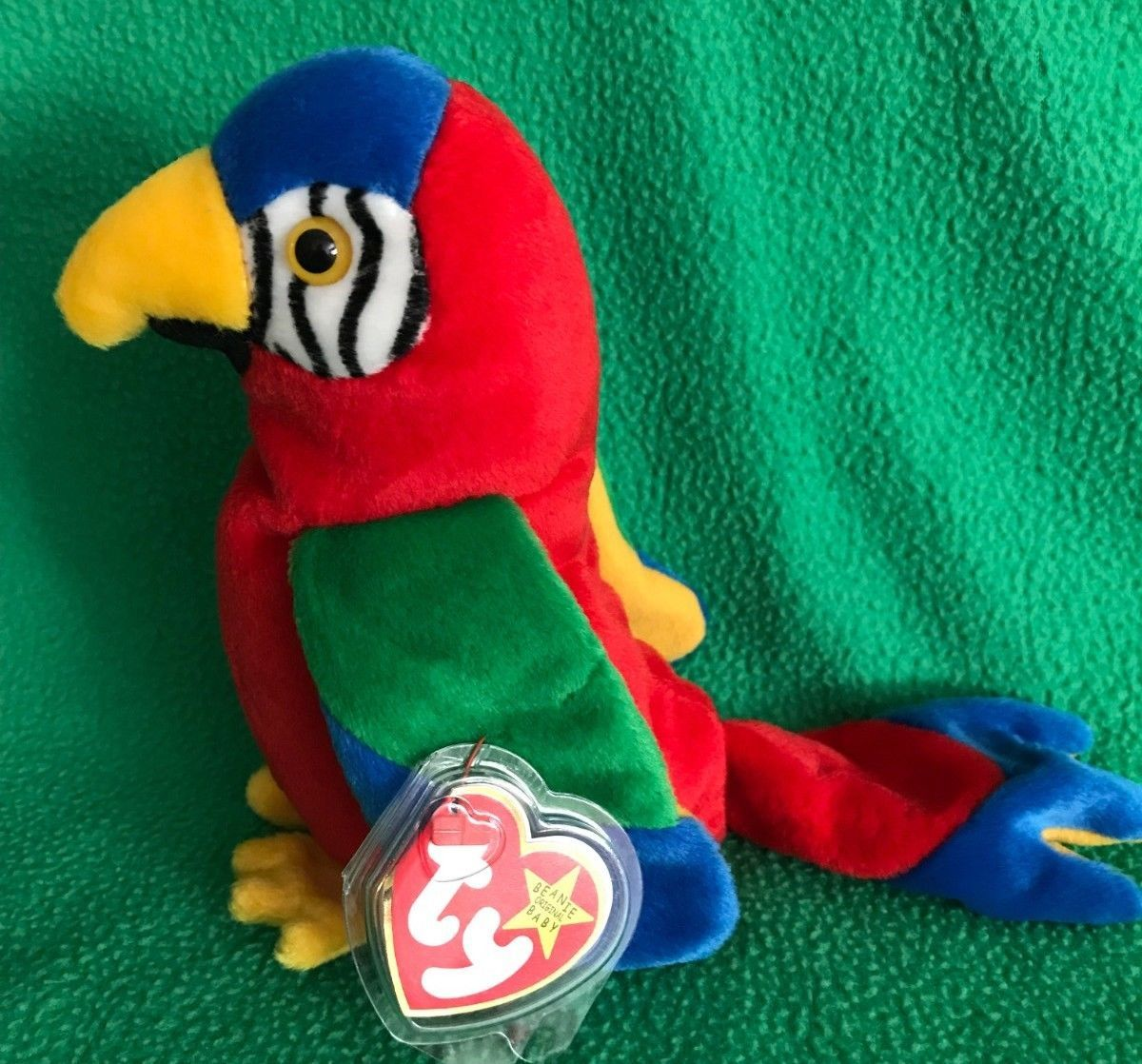 14f5e10ae52 TY Beanie Baby JABBER the Parrot 1997 5.5 MWMT Vintage Stuffed Animal Toy