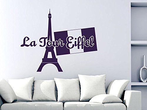 Wandtattoo Wand Aufkleber Deko für Wohnzimmer Büro Frankreich