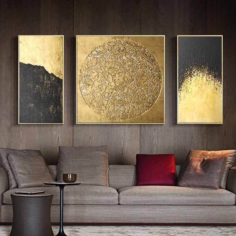 3 Panels Abstract Art Canvas Print Poster Oil Painting Wall Posters For Living Room Home Decor Canvas Painting Wall Art Living Room Canvas Wall Decor Three Canvas Painting Canvas prints for living room