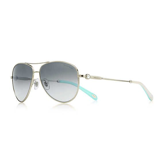 05cab8a99c Tiffany   Co. - Ziegfeld Collection aviator sunglasses in pale gold-colored  metal and acetate.