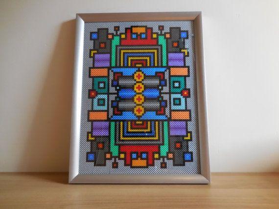 Modern Industrial Art, Office art, home decoration, Hama Beads, Pixel Art, christmas gift, unique gift, art deco, modern art love