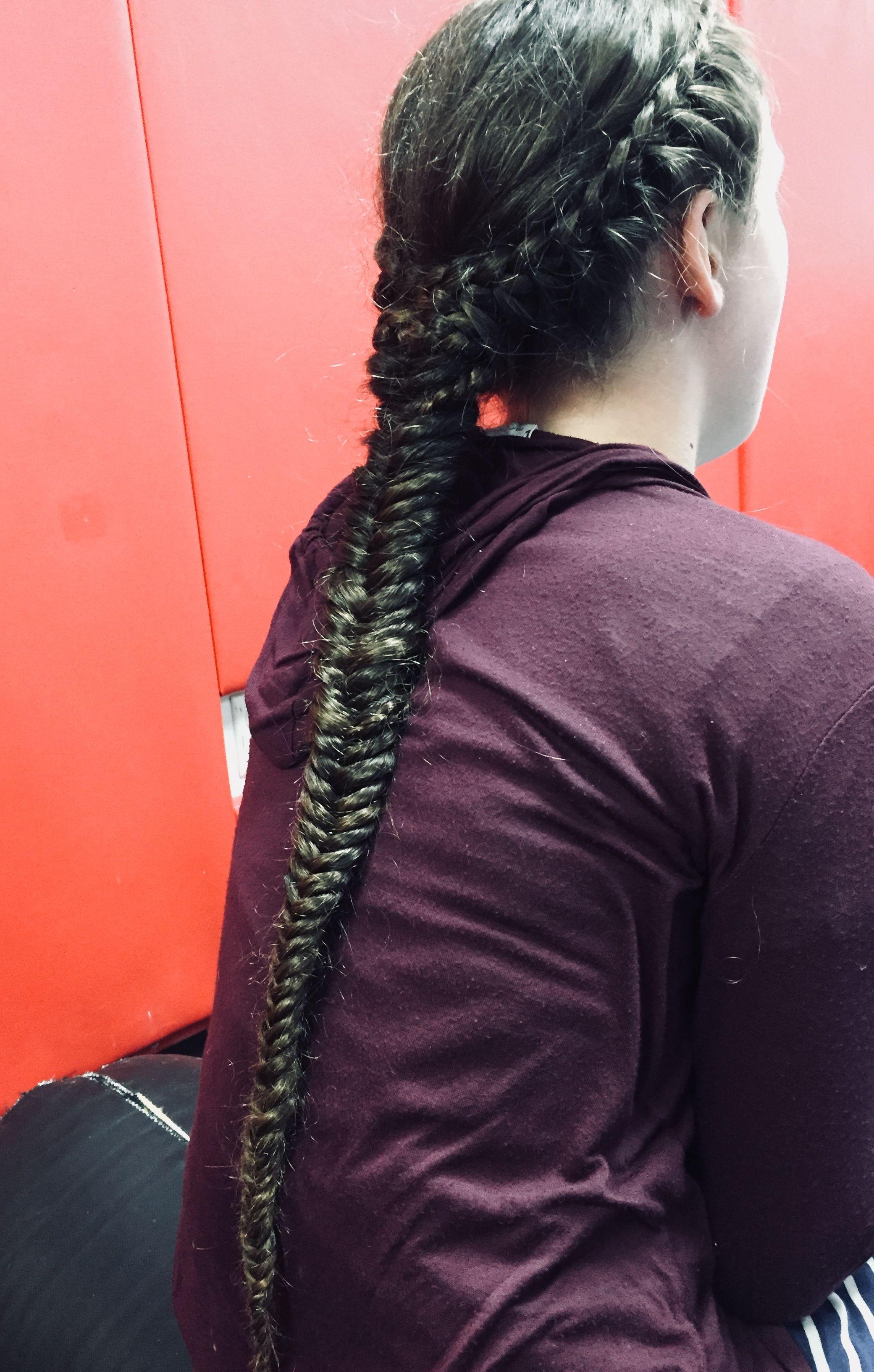 Fishtail braid hair dos pinterest hair dos fishtail braids