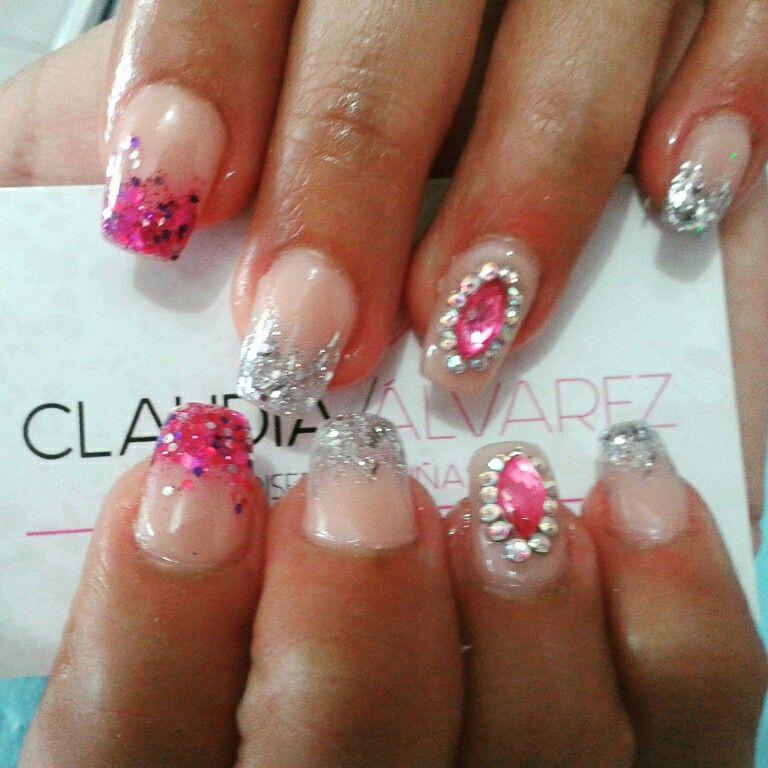 Acrilicas balerina (con imágenes) | Uñas, Salon de uñas ...