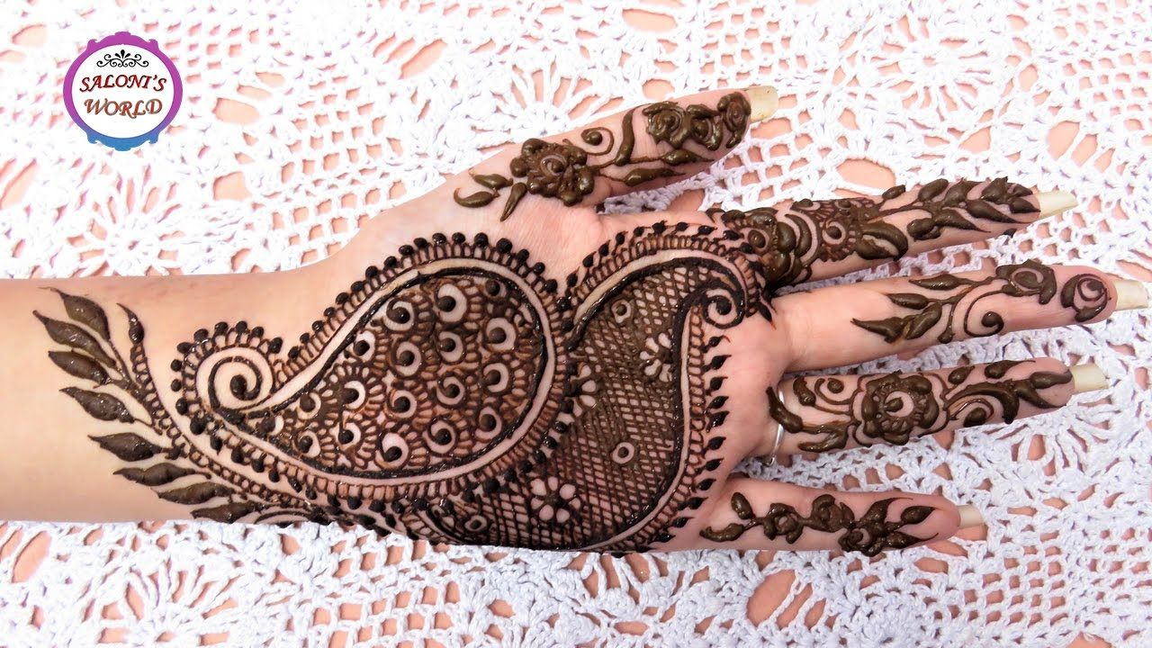 Easy Mehndi Tutorial : Easy simple mehndi designs for hands step by tutorial