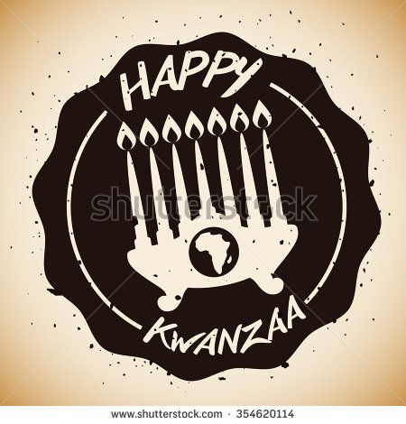 Kwanzaa kinara with africa map and greeting message vector kwanzaa kinara with africa map and greeting message vector illustration m4hsunfo