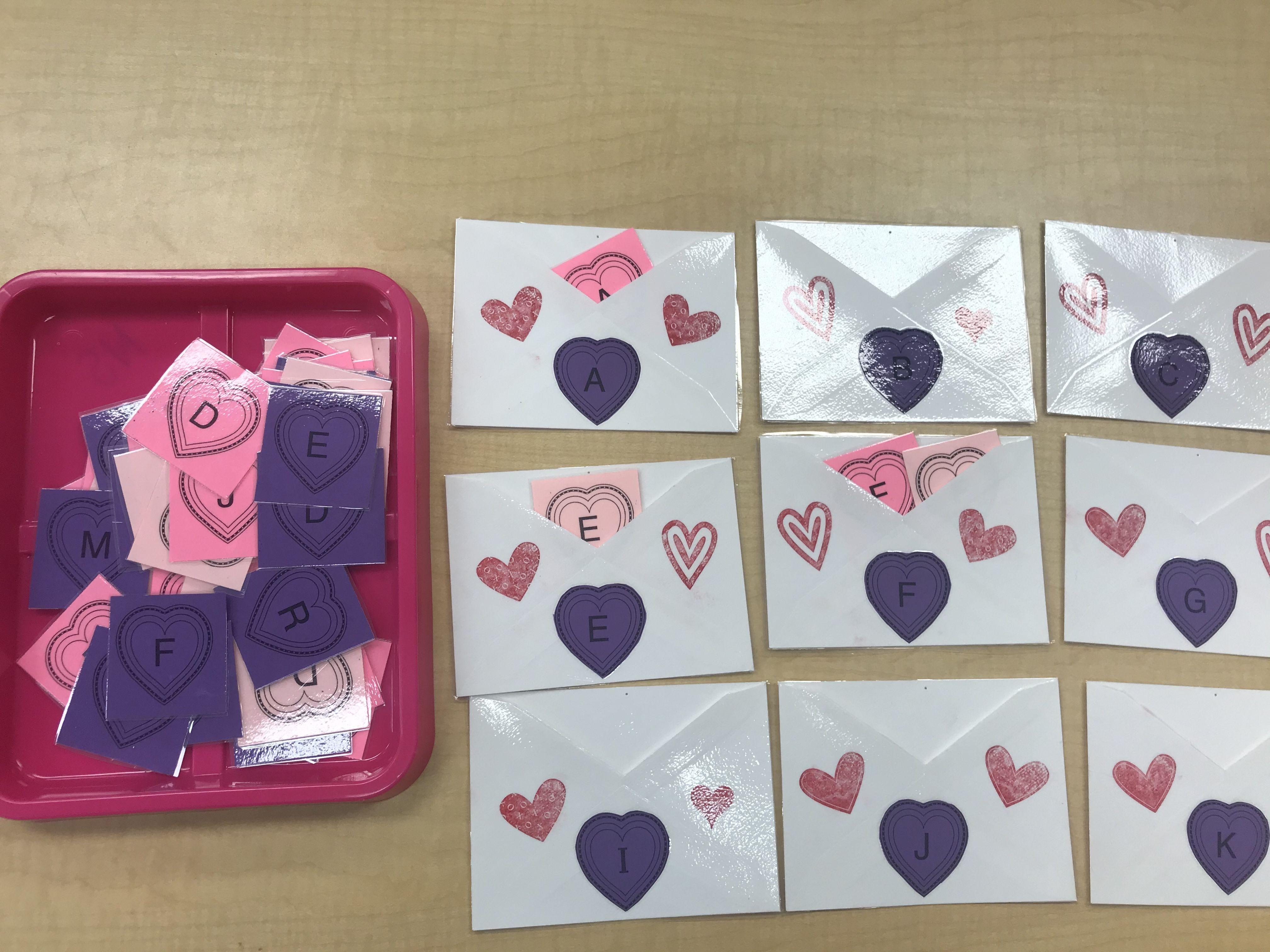 Valentine Letter Sort In