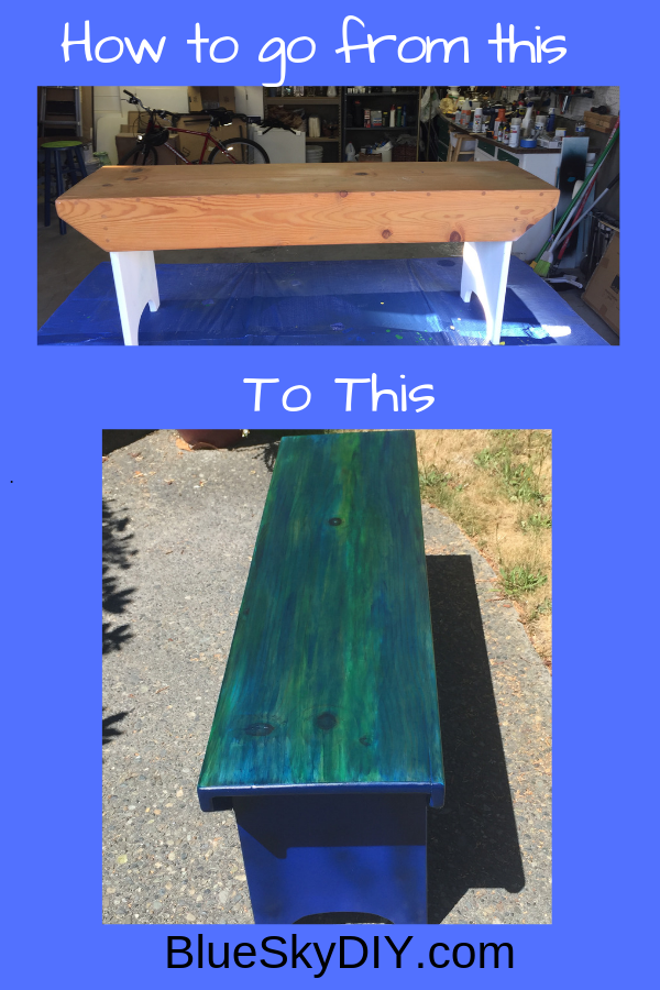 Miraculous Fun Diy Project Taking A Boring Wood Bench To Full Color Pdpeps Interior Chair Design Pdpepsorg