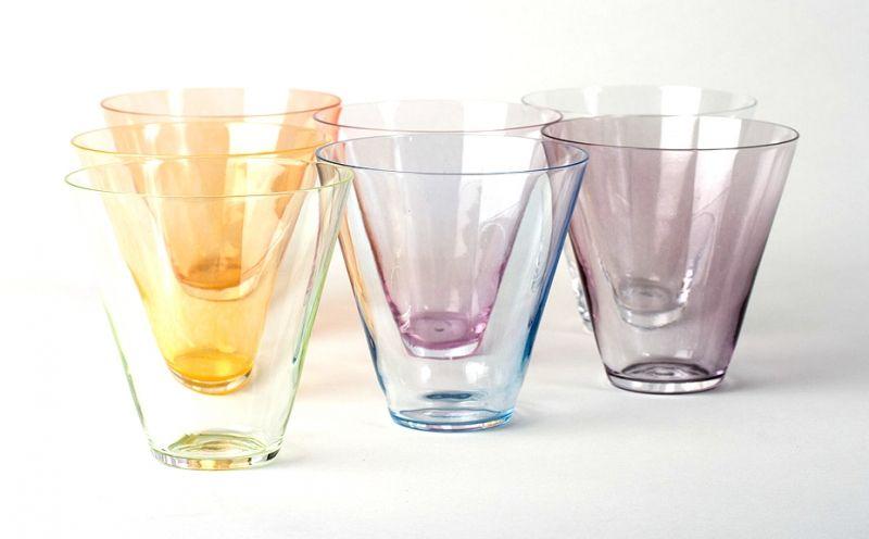 Digit Imprinted Drinking Glasses Finger In Cups Glass Design Glass Design