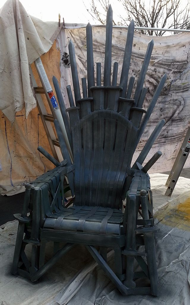 iron throne chair backboard cover hire terms and conditions how to make your own from a lawn craft ideas underwire wired