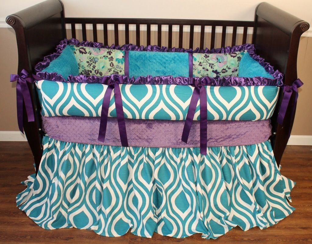 prodigious Peacock Baby Bedding Sets Part - 2: Home u003e Crib Bedding Sets u003e Poetic Peacock Crib Bedding Set
