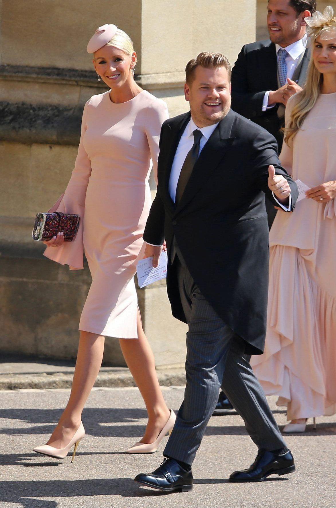 Greets Fans As He And Wife Julia Carey Go Inside Windsor Castle
