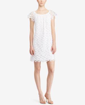 Lauren Ralph Lauren Lace Off-The-Shoulder Dress - White 12