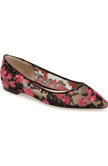 4e2370dbcd9 Jimmy Choo Romy Embroidered Floral Flat (Women) available at  Nordstrom