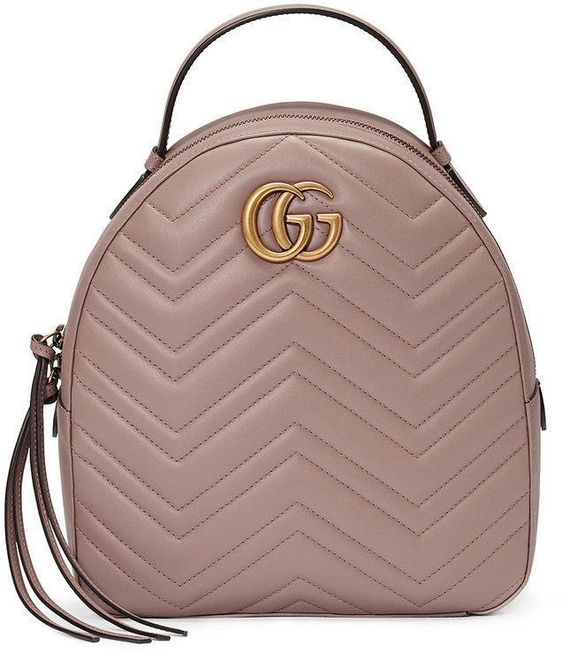 Gg Marmont Quilted Leather Backpack - Pastel pink Gucci PnLv8R8q