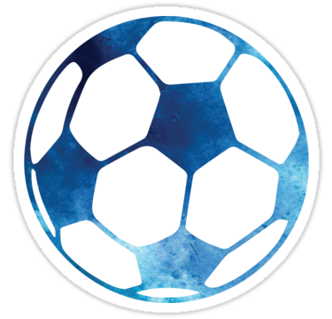 Blue Soccer Ball Sticker By Gracehertlein In 2020 Soccer Ball Soccer Aesthetic Stickers