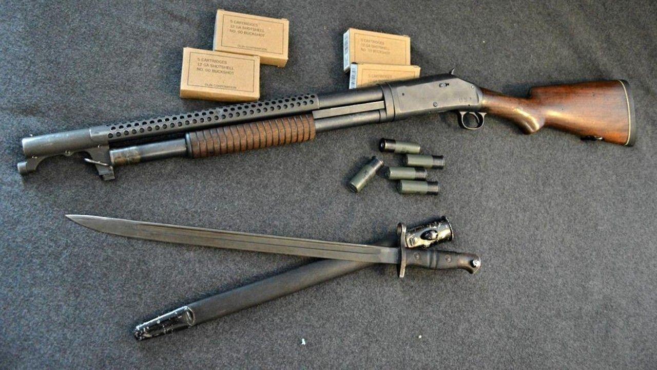 winchester m1897 trench shotgun gun pinterest guns firearms