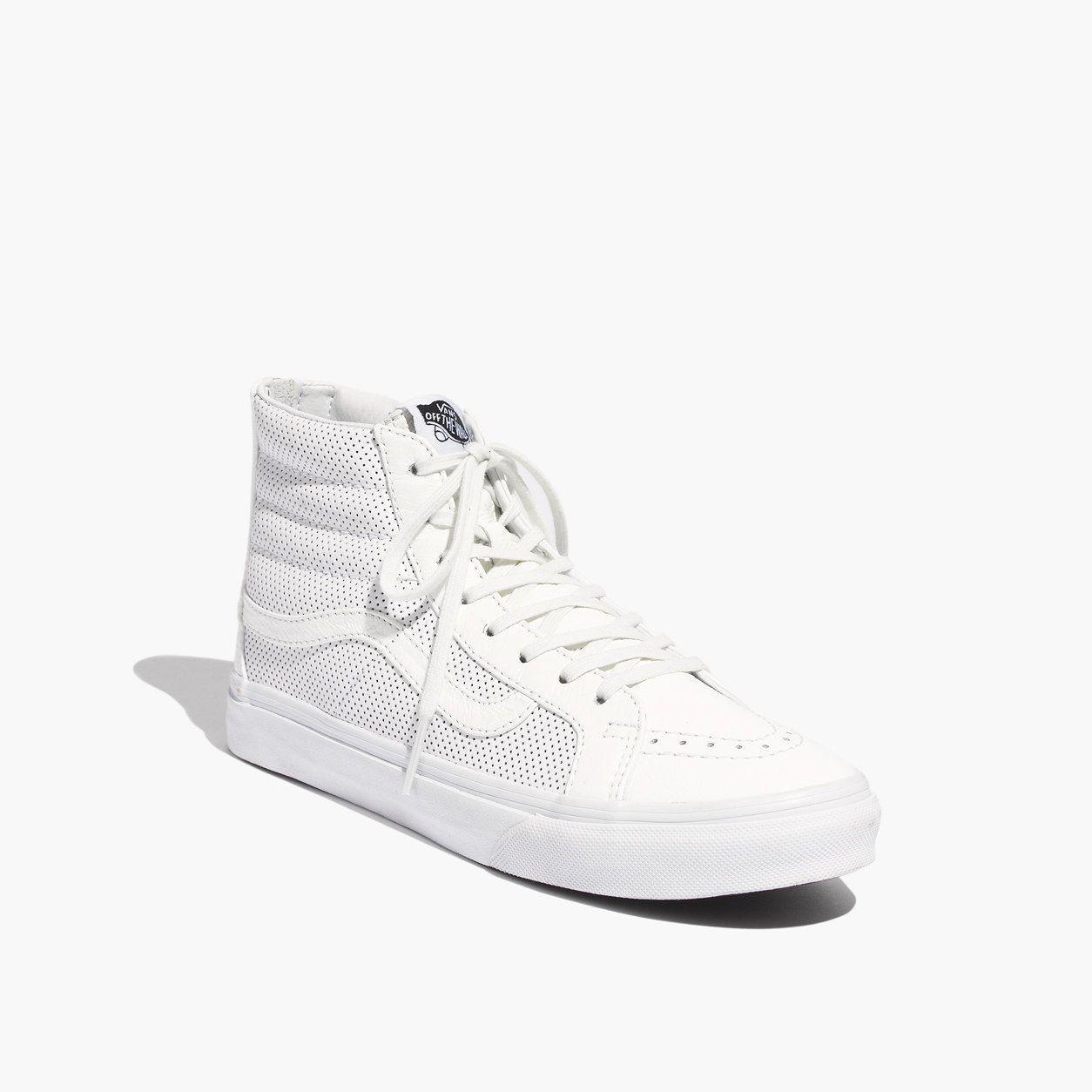 Vans® SK8-Hi Slim Zip High-Top Sneakers in Perforated Leather   sneakers  efb357034