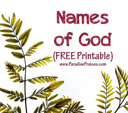 Names Of God Word Search Free Printable Names Of God