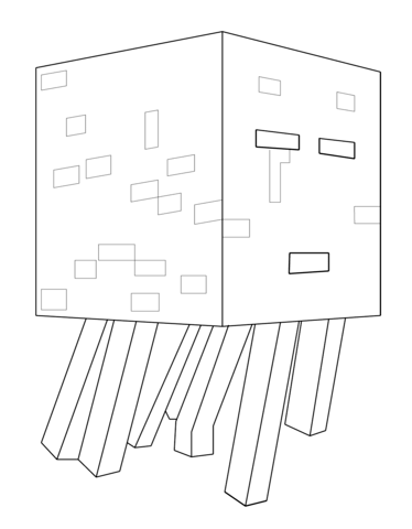 Minecraft Ghast Coloring Page Minecraft Coloring Pages Lego Coloring Pages Coloring Pages