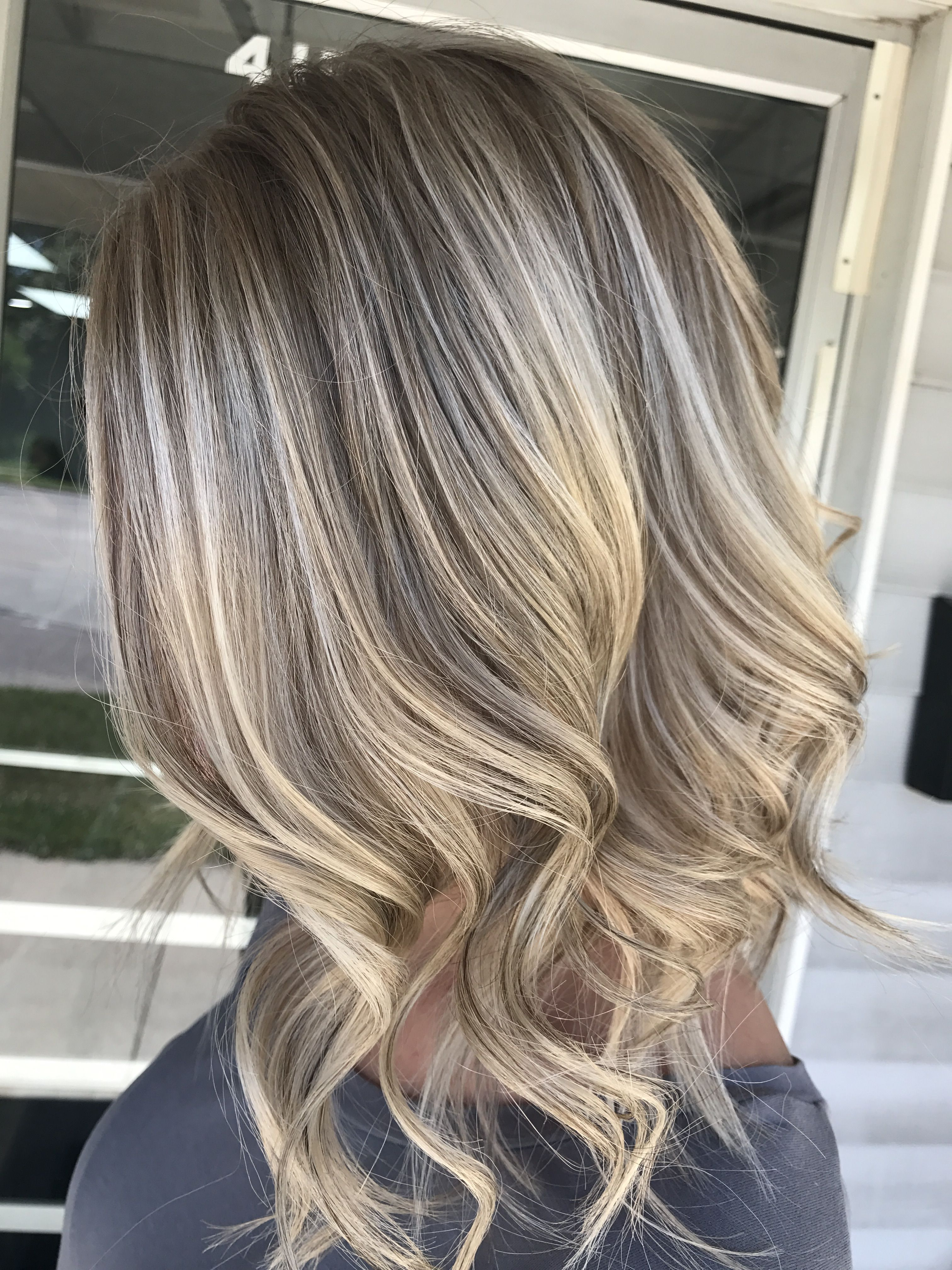 Long Bob Blonde With Lowlights Rose Gold Rose Gold Hair Color Rose
