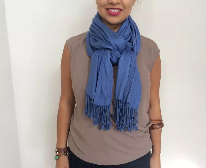 Как красиво завязать шарф на шее: изысканные варианты ...