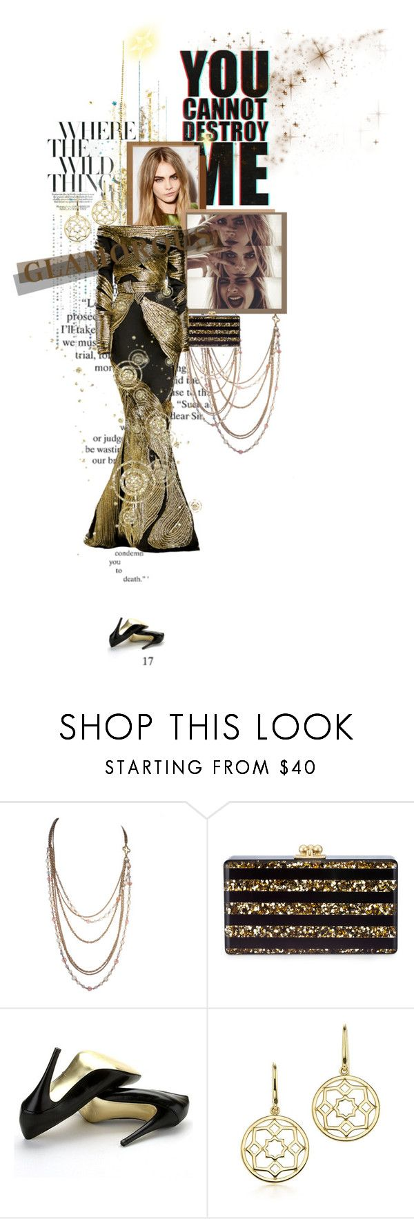 """this is it"" by death0fag0d ❤ liked on Polyvore featuring Edie Parker, Stephane Rolland, Charles by Charles David and Tiffany & Co."