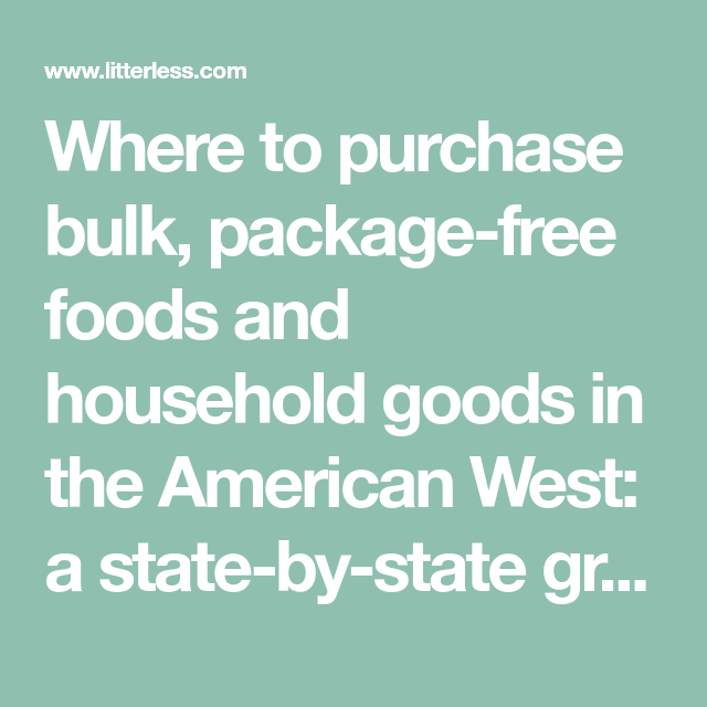 Where To Purchase Bulk Package Free Foods And Household