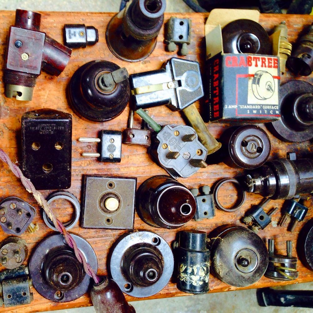 Bakelite Switches Sockets Light Fittings Retro Vintage Art Deco Pre War Light Fittings Vintage Light Switches Vintage Art Deco