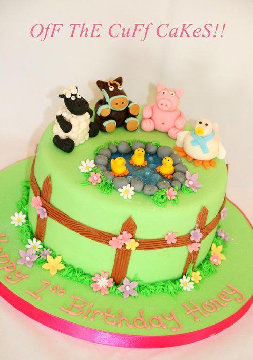 Farm animal cake backen Pinterest Farm animal cakes Animal