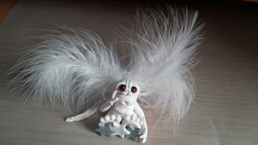 Handmade Dragon sculpey clay model