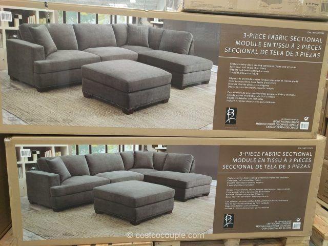 Bainbridge 3 Piece Fabric Sectional Costco Fabric Sectional Costco Furniture 3 Piece Sectional Sofa