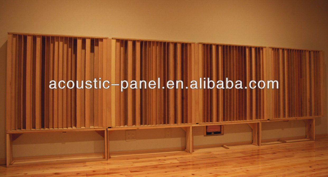Wooden Acoustic Diffuser For Recording Studio Equipment