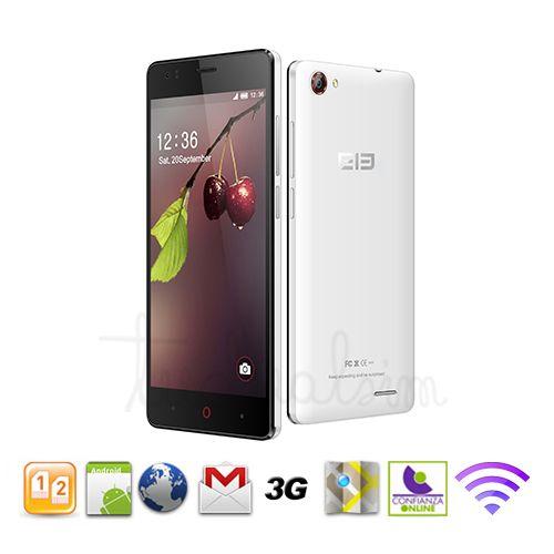 """Elephone g1 blanco quadcore 3g android 4.4 4.5"""" qhd"""