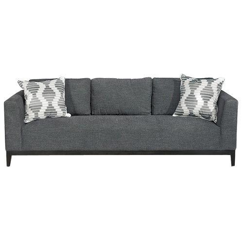 TRIBSFONYXGRAPHSO Tribeca Onyx Black Upholstered Modern Sofa