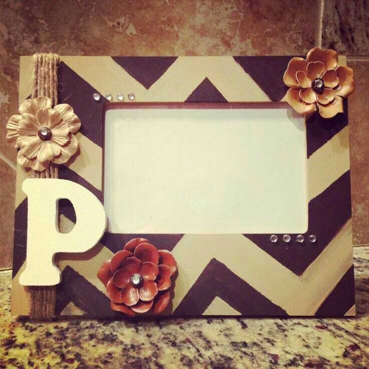 Cute Idea Paint And Decorate A Picture Frame For Your Girls Diy