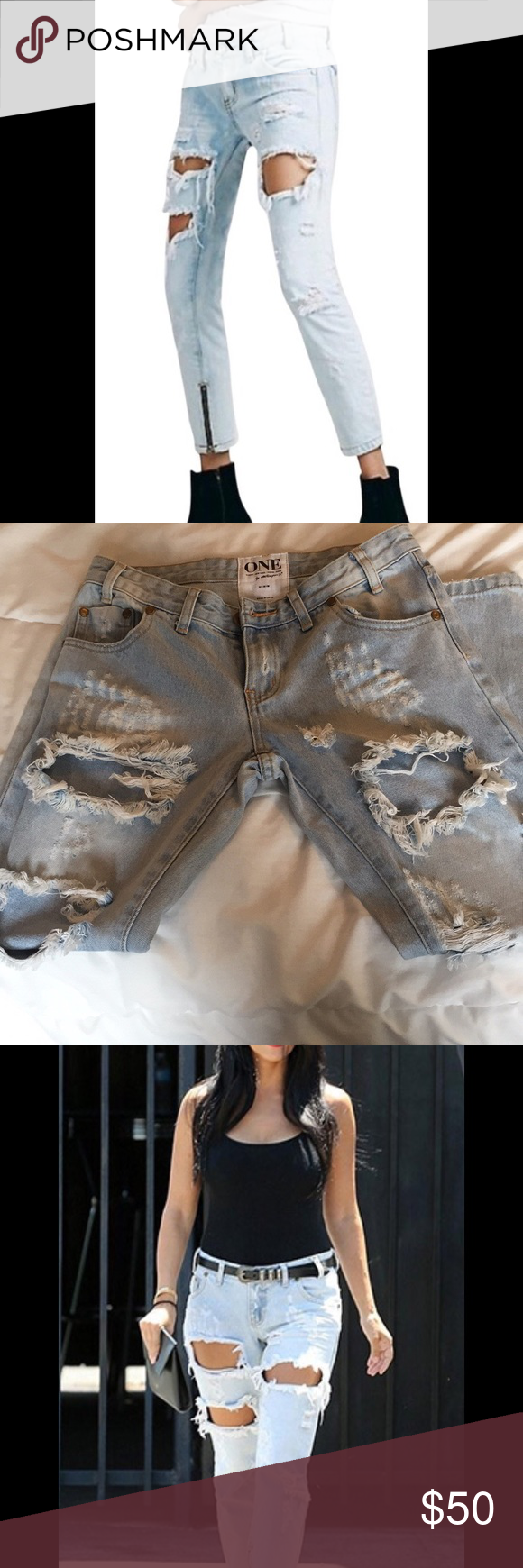 One Teaspoon Jeans Great condition  Style is trashed free birds  Size 24 No flaws One Teaspoon Jeans #myposhpicks