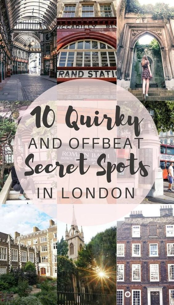 10 Quirky, unique and offbeat secret spots in London you'll love! Where to escape the crowds in London, England. Travel in Europe. #travelinspain #TravelDestinationsUsaUnique