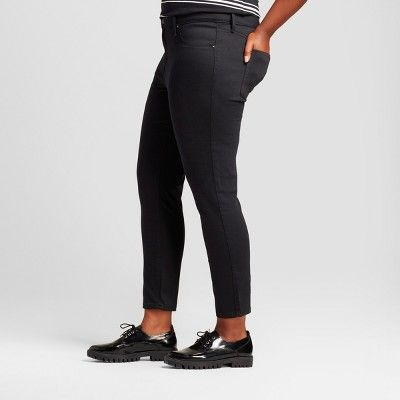 ba78c1d3ac030 Women's Plus Size Denim Jegging - Ava & Viv - Black 20W | Products