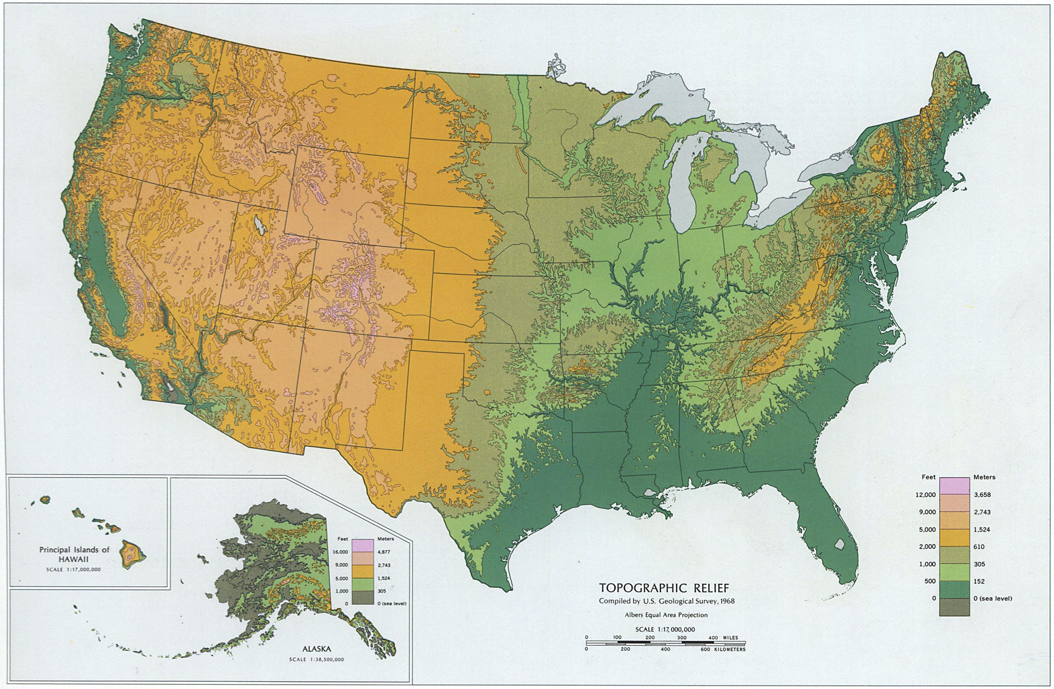 topographical map of US | A Crafty Lawyer | Map, Us map, Topographic map