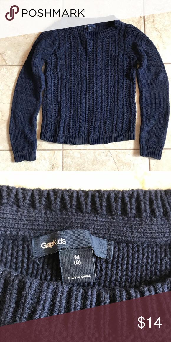 3356079c8e0 Girl's Navy blue Gap Kids size 8/Medium sweater Cute Girl's Navy ...