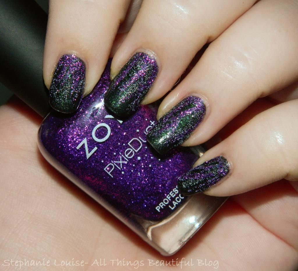 Spookfest: Easy #Maleficent Inspired Magical Textured Nail Art ...