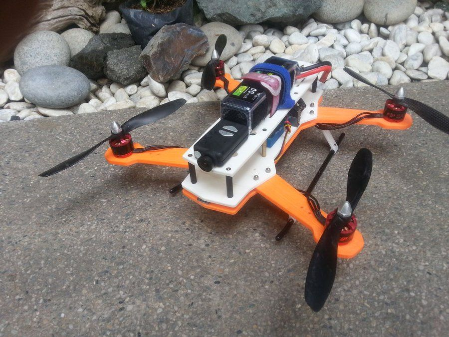 Make an H Quadcopter With 3D Printing 3d drucker