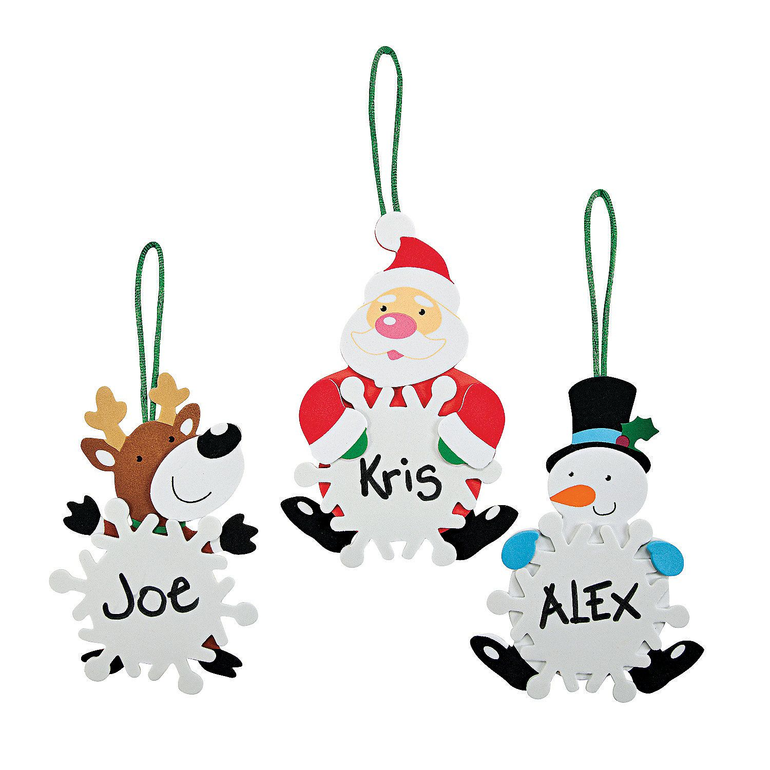 character snowflake christmas ornament craft kit orientaltradingcom