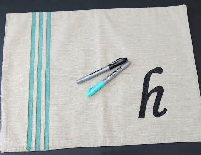 Monogram Placemat Pillow Monogram Pillowcase Diy