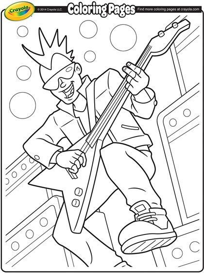 Lead Guitarist Coloring Page Coloring Pages Cool Coloring Pages