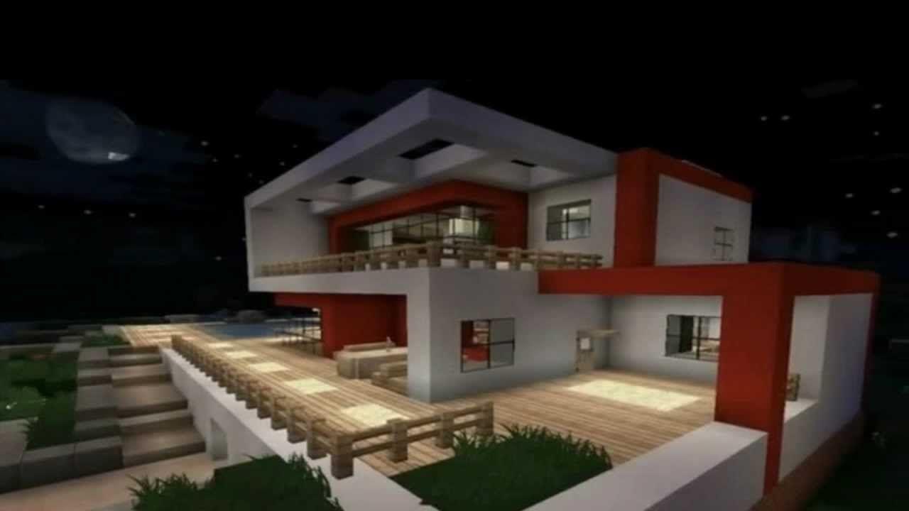 Minecraft modern house modernes haus hd
